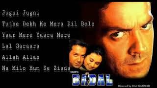Badal (2000) Bobby Deol & Rani Mukharji   Bollywood Juke Box.