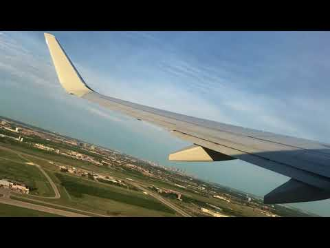 DFW Airport Takeoff - great aerial view of Dallas Love Field Airport