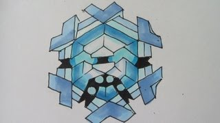 How to draw Pokemon: No.615 Cryogonal