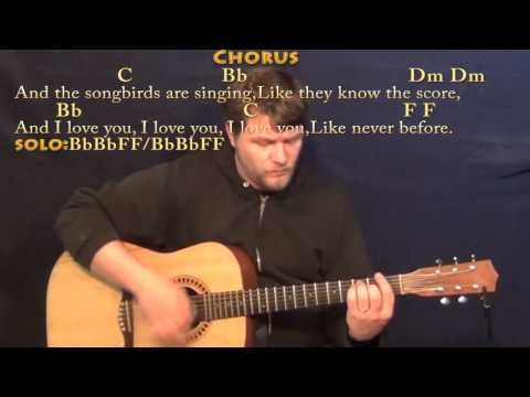Songbird (Fleetwood Mac) Strum Guitar Cover Lesson in F with Chords/Lyrics