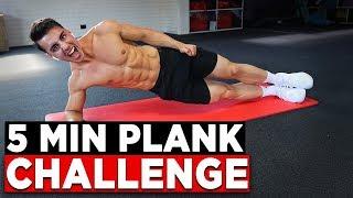 5 MIN PLANK CHALLENGE (NO EQUIPMENT BODYWEIGHT WORKOUT!)