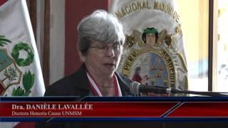 Tema: Doctora Honoris Causa para Danièle Lavallée