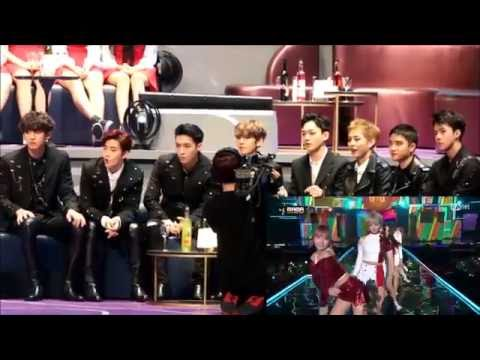 161202 EXO Reaction To TWICE Cheer Up/TT @ MAMA 2016