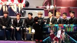Download Video 161202 EXO reaction to TWICE Cheer Up/TT @ MAMA 2016 MP3 3GP MP4