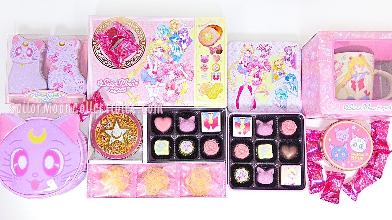 Sailor Moon Crystal Chocolates Sweets Valentine Gift Review 2016   YouTube