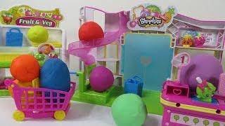 Shopkins Small Mart Fruit Veg Stand Bakery Playdoh Surprise Egg Minecraft More