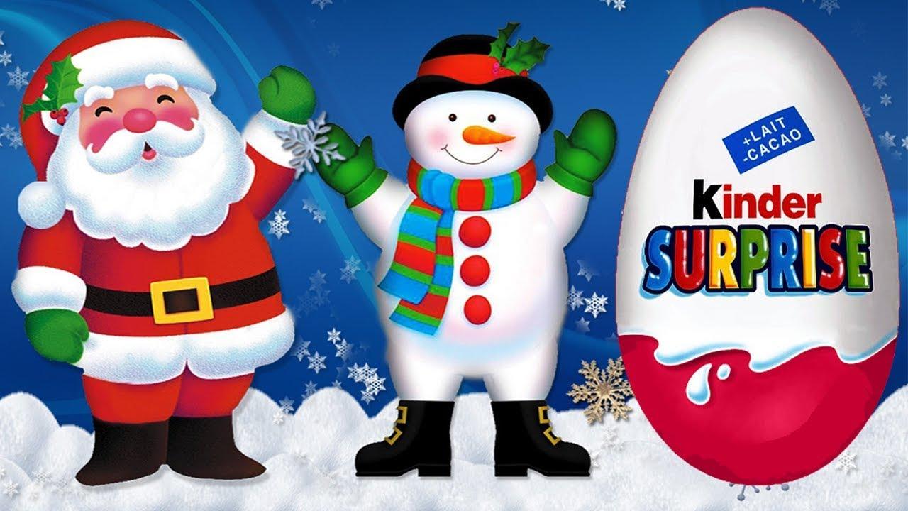 Надпись киндер сюрприз картинка для распечатки с дедом морозом