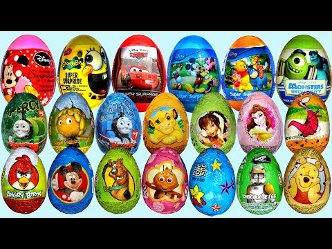 Thumbnail: 26 Surprise eggs, Маша и Медведь Kinder Surprise Disney Pixar Cars 2 Mickey Mouse