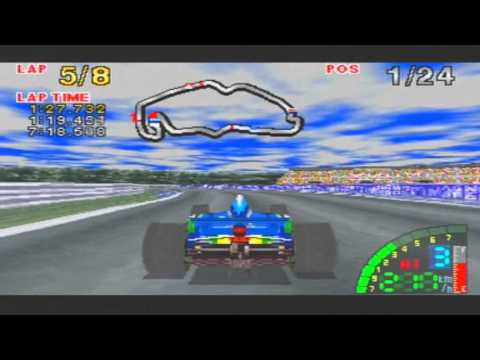 F1 Challenge Game Sample - Sega Saturn