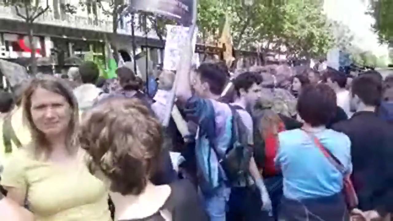 Paris Manif climat 24.05.2019 Demonstracje w PARYŻU młodzieży przeciw zmianom klimatycznym itp...