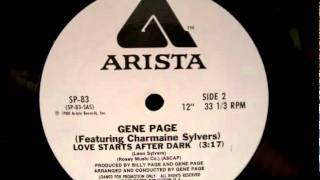 Gene Page Featuring Charmaine Sylvers_Love Starts After Dark_Special Disco Version_1980.wmv