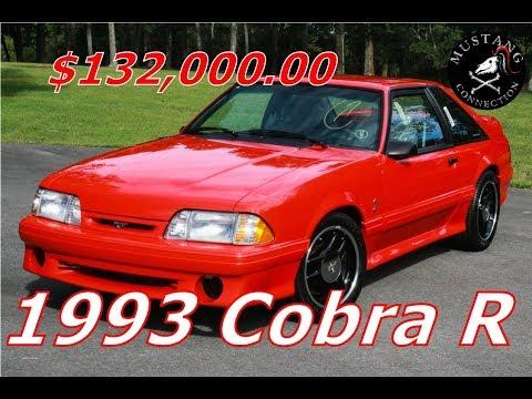1993 Cobra R sells for $132,000 Barrett Jackson 2019 Mustang Connection
