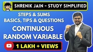 CONTINUOUS RANDOM VARIABLE - pmf , pdf, mean, variance and sums