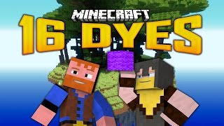 16 DYES SKY ISLAND MAP (7)(Minecraft: Dumb and Dumber)