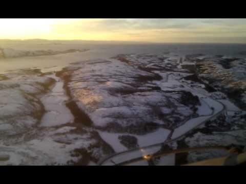 Visual approach and landing ENRM Rørvik