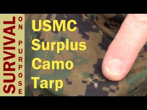 USMC Surplus Tarp Review - Survival Shelter