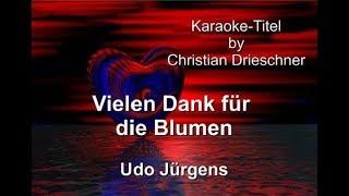 Vielen Dank für die Blumen - Udo Jürgens - Karaoke