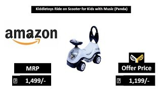 Kiddletoys Ride on Scooter for Kids with Music (Panda)