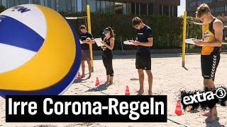 Realer Irrsinn: Corona-Beachvolleyball-Regeln | extra 3 | NDR