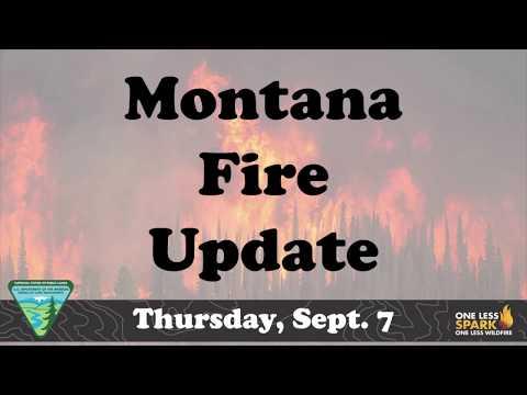 Montana Fire Update  Thursday Sept 7, 2017