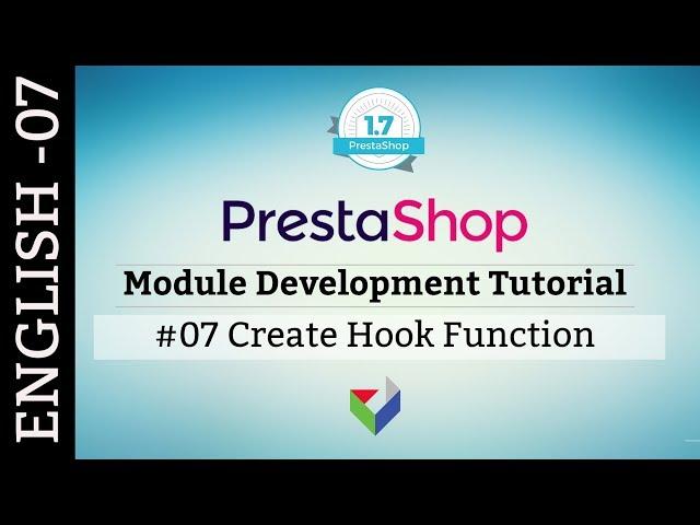 EN007 - How to create Hook function in PrestaShop Module | PrestaShop Module Tutorial
