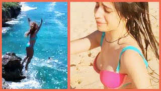 Video FIFTH HARMONY'S SCARY CLIFF DIVING INCIDENT!! download MP3, 3GP, MP4, WEBM, AVI, FLV November 2018