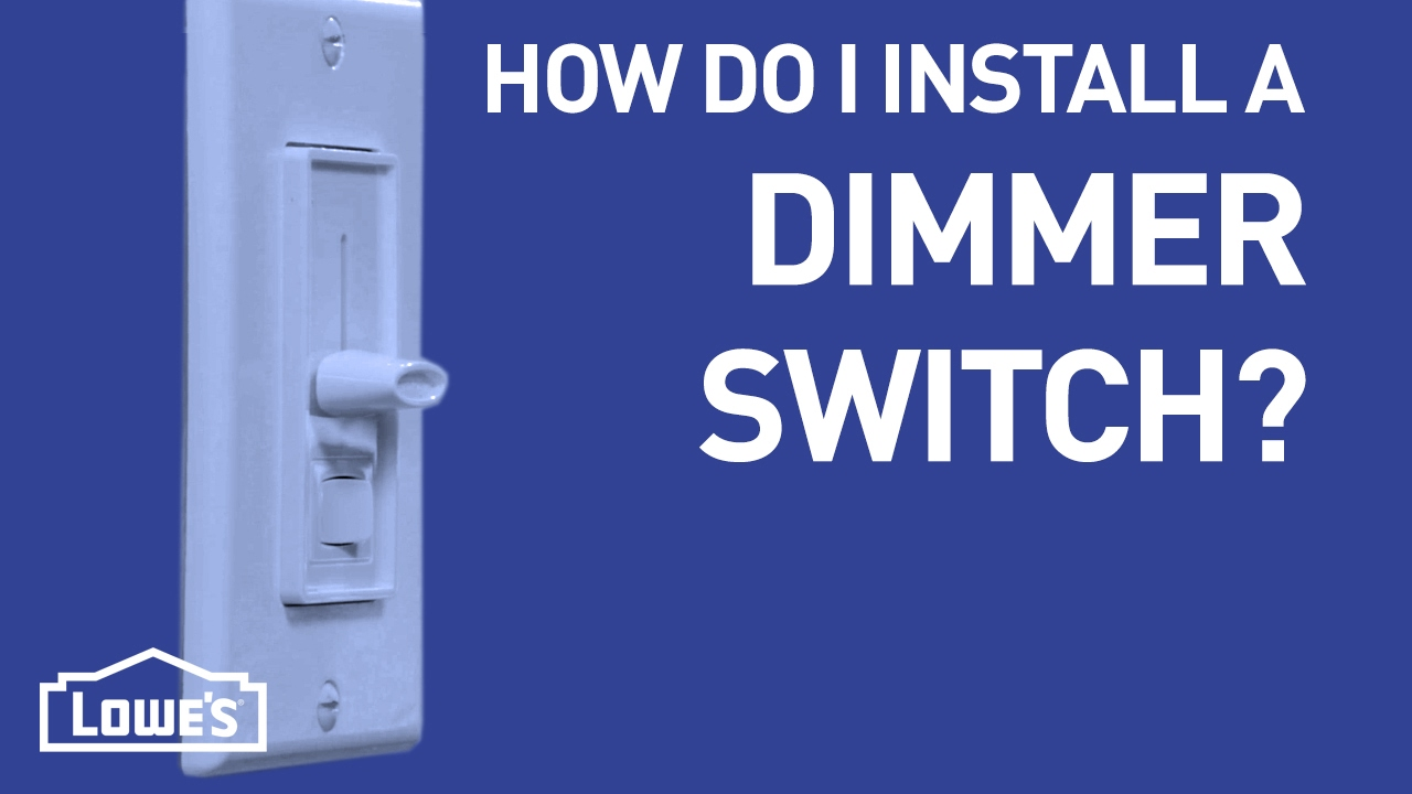 how do i install a dimmer switch diy basics youtube. Black Bedroom Furniture Sets. Home Design Ideas