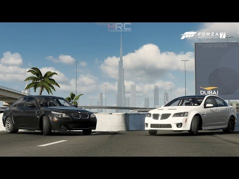 "Forza 7 | 1v1 Street Battle | ""Cam Only"" Pontiac G8 vs FBO BMW E60 M5 (Digs & Rolls)"