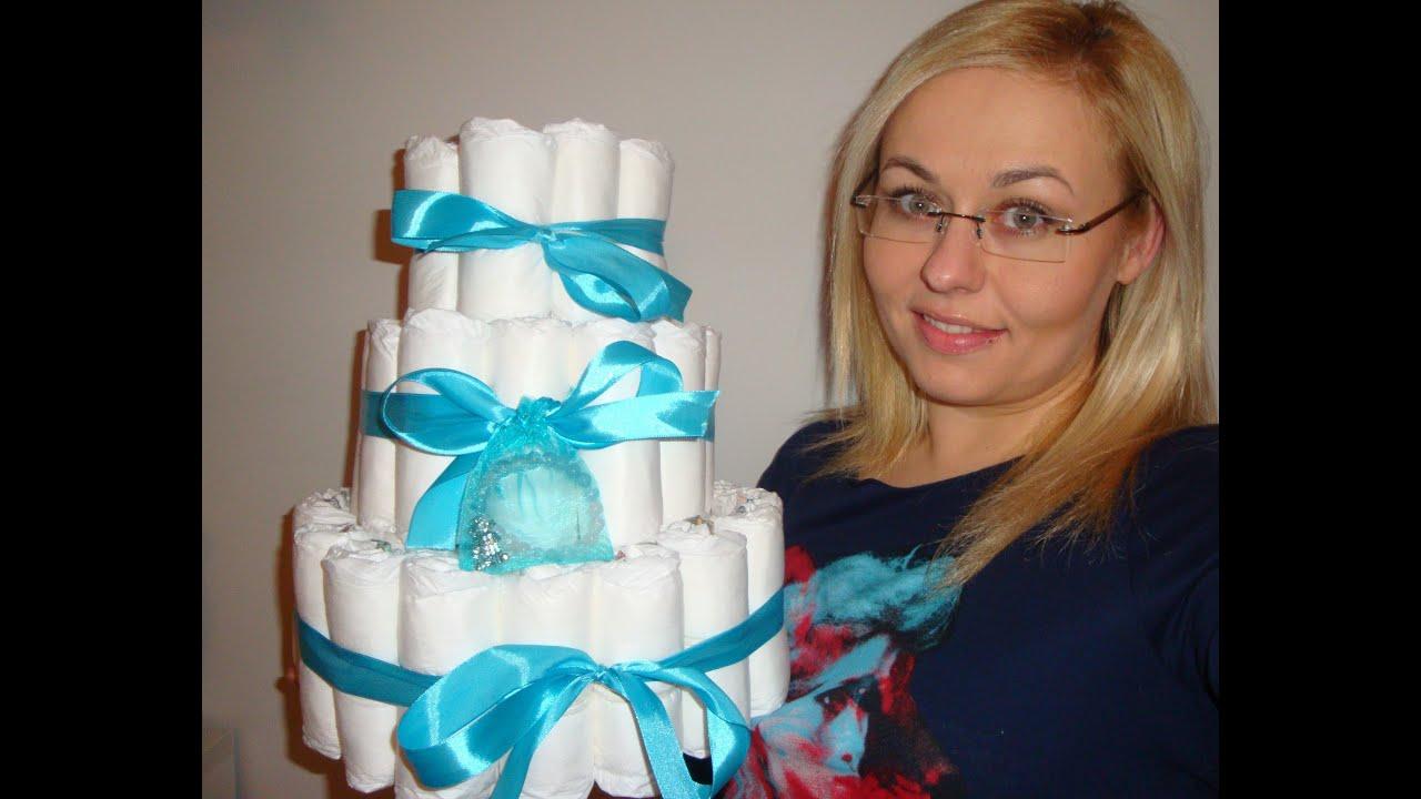 Tort Z Pieluszek Pomysł Na Prezent Dla świeżo Upieczonej
