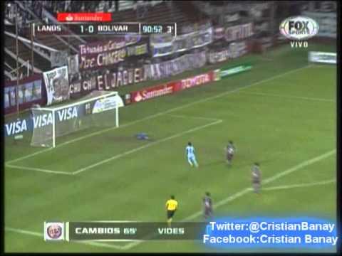 Lanus 1 Bolivar 1 (Relato Mariano Closs) Copa Libertadores 2014 Los golazos
