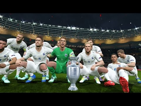 Pes 2016 UEFA Euro 2016 Final England Vs Spain 1-0