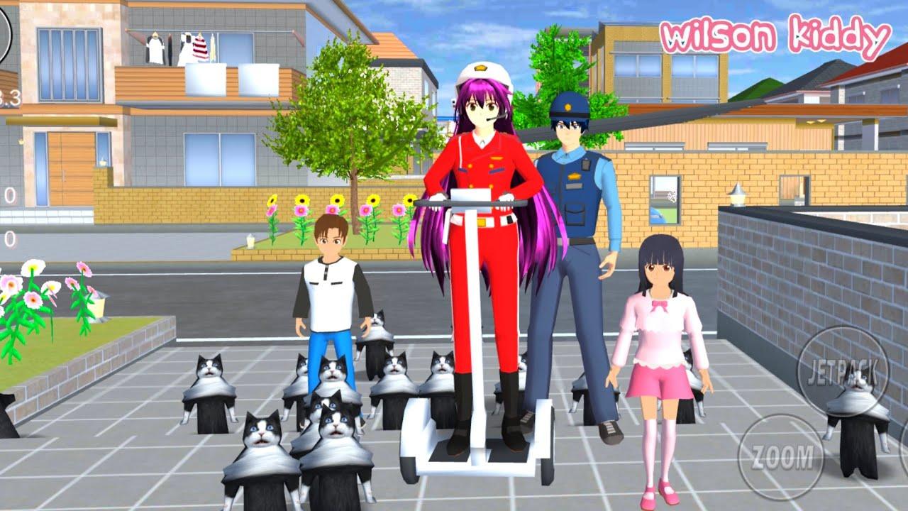 Download Polisi Sakura Dikejar Kucing Lucu Banyak Sekali 😲😱   Sakura School Simulator   Game Wilson Kiddy