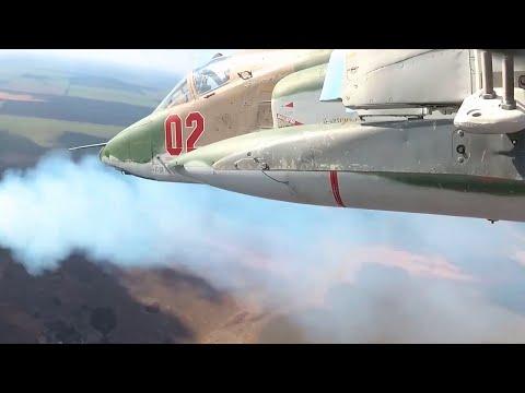Пилоты Су-25 отработали элементы второго этапа конкурса «Авиадартс» в ЮВО