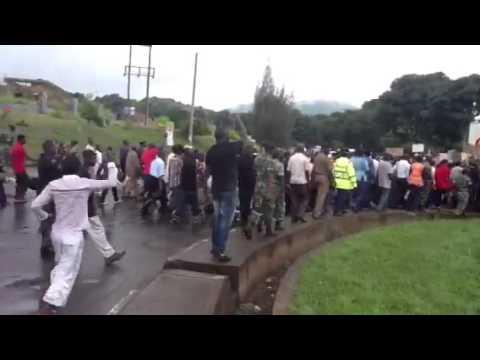 Malawi CSO's demonstrate against President Joyce Banda' s l
