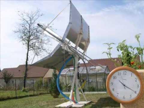 D mo concentrateur solaire cylindro parabolique suivi for Miroir solaire parabolique