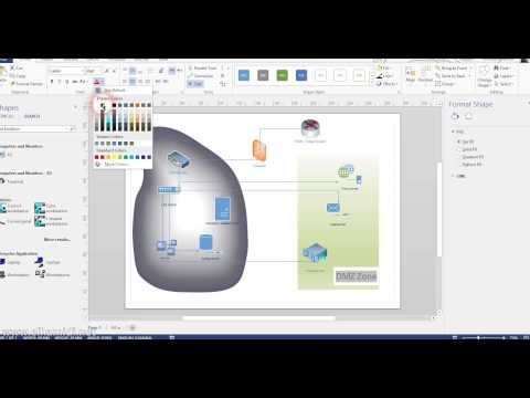 Creating Network Diagram Using Visio