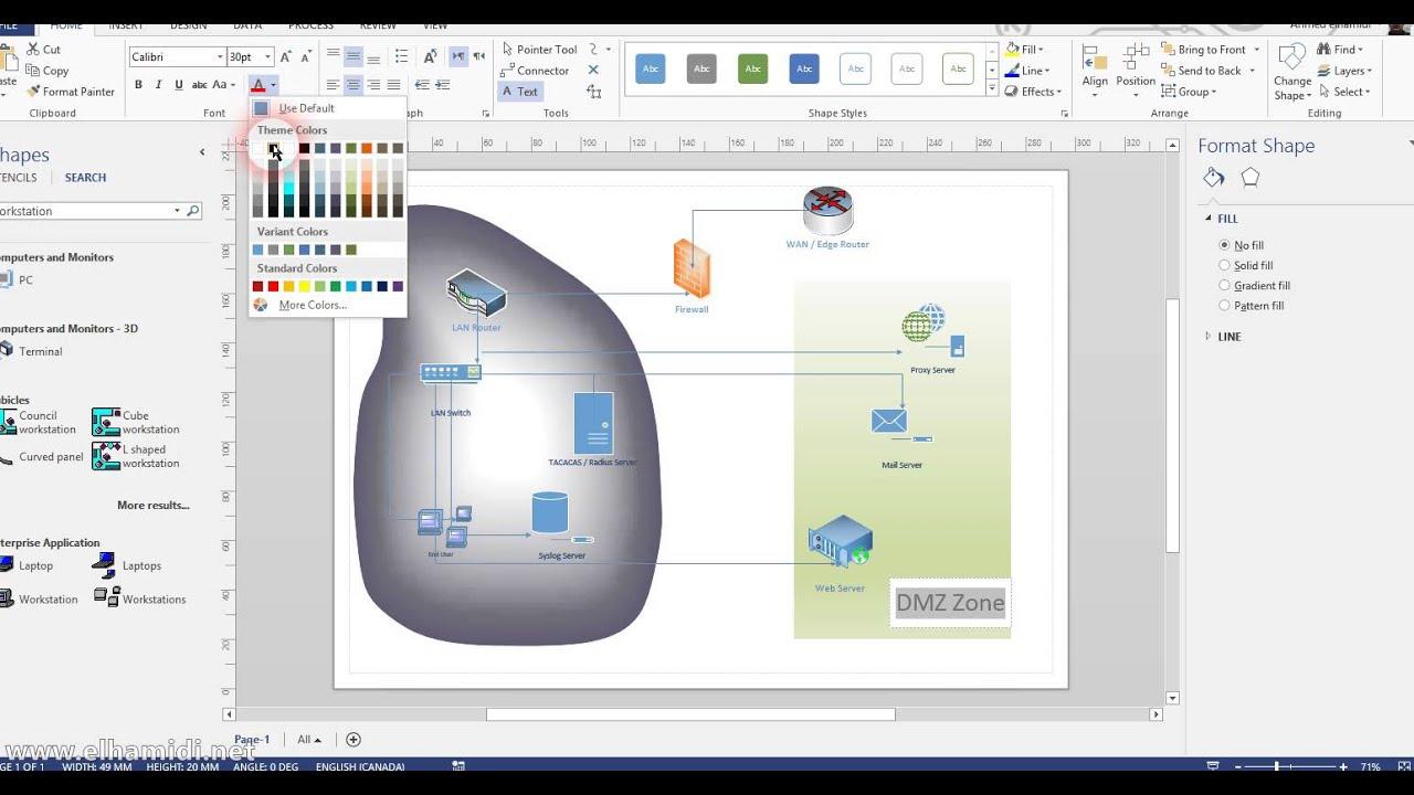creating network diagram using visio 2013 [ 1280 x 720 Pixel ]