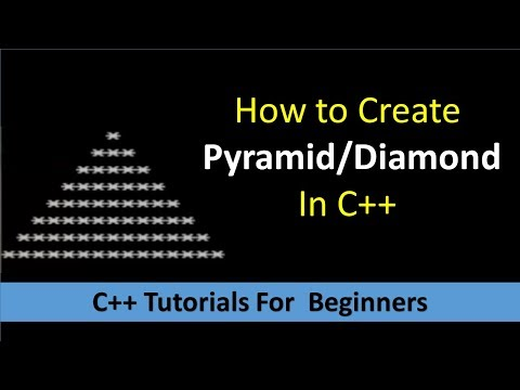 How to Create Pyramid In C++ Programming | C++ Programming Tutorial for Beginners | C++ Programs thumbnail