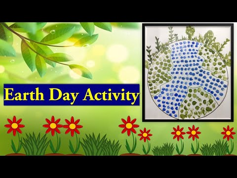 Earth day 2021 | Earth Day activity | Learn with Nikita | Earth Day craft for kids | Save earth