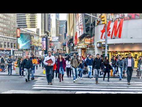 NEW YORK CITY 2018: LET'S WALK AROUND THE SUNNY MANHATTAN! [4K]