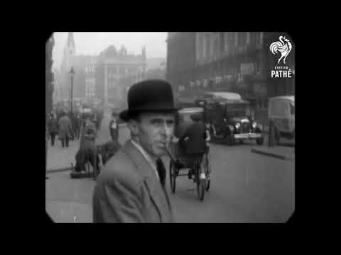 1930 - London Street Scenes (with real era sound + speed correction)