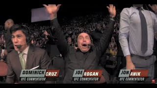 UFC 232| JOE ROGAN, COACHES AND FIGHTERS REACTIONS.
