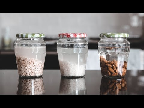 How To Make Plant Based Milks » Almond, oat & rice