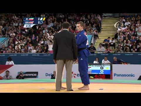 Judo - IRI versus GBR - Men -73 kg Repechage - London 2012 Paralympic Games