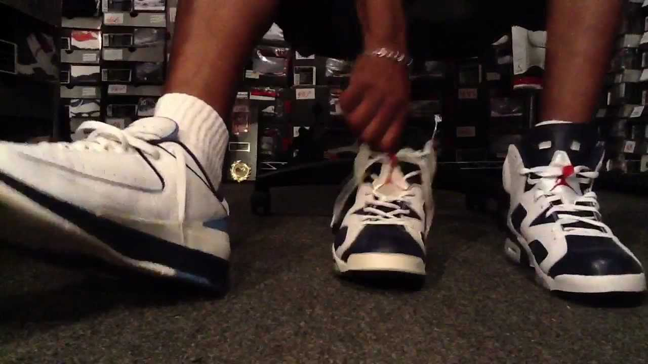 2012 AIR JORDAN 6 RETRO Olympic   2000 comparison. Pickup  759 - YouTube 4d4656eab9