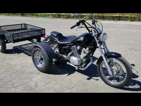 Motorcycle Pull Behind Trailer Cargo Box Utility Style