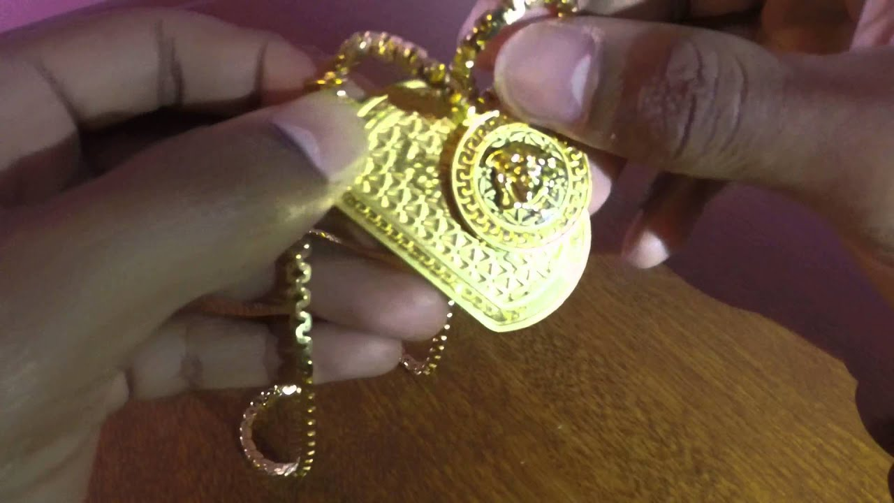 Versace Dog Tag Medusa Head Pendent Update - YouTube 80a95157963