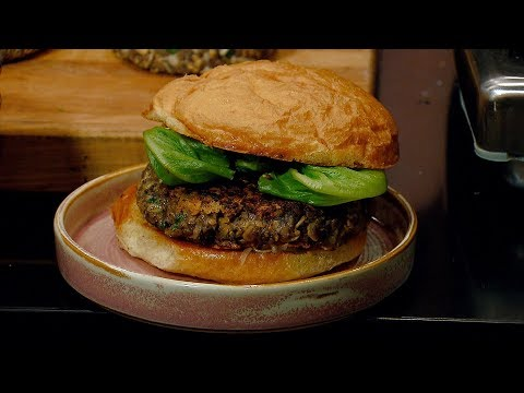 How to make a mushroom and oat veggie burger