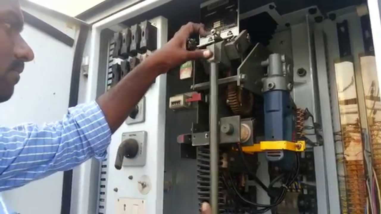 Alstom Vacuum Circuit Breaker Manual Operation Youtube Vcb Panel Wiring Diagram