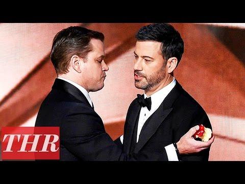 Matt Damon Roasts Jimmy Kimmel On Stage After Emmy Loss | THR News